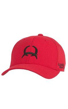 Cinch Red with Black Tech Logo Flex Fit Cap C0658005 | Cavender's