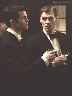 Joseph Morgan and Daniel Gilles and Klaus and Elijah Mikaelson