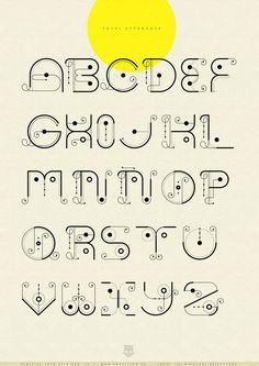3 Ways to Improve Your Typography Alphabet Design Alphabet Design, Hand Lettering Alphabet, Calligraphy Letters, Typography Letters, Uppercase Alphabet, Cool Fonts Alphabet, Creative Lettering, Lettering Design, Letras Cool