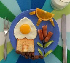 französisches haus frühstück sonne orange