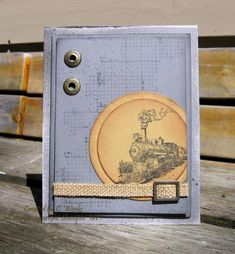 Stamps: Traveler, Off the Grid Paper: Basic Grey, Baked Brown Sugar Ink: Jet Black Stazon, Basic Grey Accessories: SU Brass eyelets, SU H. Masculine Birthday Cards, Masculine Cards, Nifty Crafts, Transportation Theme, Boy Cards, Travel Cards, Travel Set, Basic Grey, Funny Cards