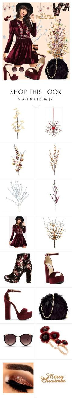 """""""Merry Christmas"""" by su-zulic ❤ liked on Polyvore featuring Charlotte Russe, Steve Madden, Rebecca Taylor, Futuro Remoto, Christmas, outfit, contestentry and polyPresents"""