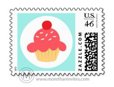Cupcake postage stamps Archives - More than invites