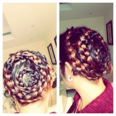 Multi coil french braid crown
