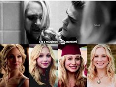 stefan salvatore saved caroline forbes human life and gave her the ability to enjoy vampire life + smile:) steroline♥️