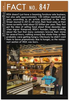Fact 847: IKEA doesn't just have a booming furniture sale business, but also…