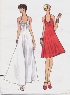 1970s Vogue Sewing Pattern 8583 Womens Bias Flared by CloesCloset, $12.00