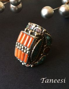 Garnet jewelry RING SILVER Red Tribal Bohemian Ethnic Aztec jewellery unusual ring women STERLING 925 boho rings red jewels ladies gifts