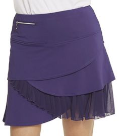 "Unique, Pretty Colors are the highlight of the GGblue ladies golf collection just like this PULSE (Plum) GGblue Ladies Yaya II 17.5"" Pull On Golf Skorts!"