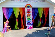 Rainbow Art Birthday Party Ideas | Photo 11 of 91 | Catch My Party