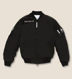 UEG Patch-detail bomber jacket (Black