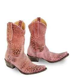 Old Gringo Women's Pink Leopardito Western Boot