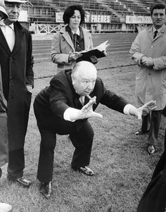 Alfred Hitchcock on the set of, Topaz, 1969. When the great master showed the angle he wanted to shoot a scene from, who would dare saying otherwise?
