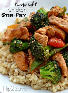 Easy Chicken Stir-Fry  So yummy!! Didn't use sugar (just a little honey instead), only 1 teaspoon of ginger, and no toasted sesame seeds.
