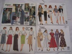 Vogue Pattern 2637 / Vogue Pattern 1170 / Vogue Pattern 1023 / Vogue Pattern 1192 FREE US SHIPPING Additional 30% Off 3 Or More ARubyInTheRough, $6.99