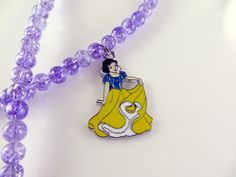 Snow white girls beaded necklace