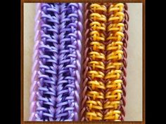 """New """"Bordered by Doodads"""" Hook Only Bracelet/How To Tutorial Loom Band Bracelets, Rubber Band Bracelet, Rainbow Loom Bracelets, Rainbow Loom Tutorials, Rainbow Loom Patterns, Loom Bands Tutorial, Bracelet Tutorial, Monster Tail, Rainbow Crafts"""