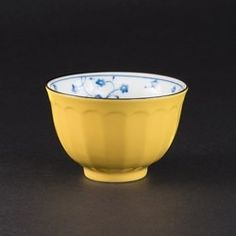 Teetasse Japan Porzellan Gelb