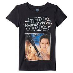 Girls 7-16 Star Wars: Episode VII The Force Awakens Rey T-Shirt