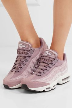 Sole measures approximately 25mm/ 1 inch Tonal-lilac suede and canvas  Lace-up