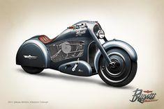 Atlantico Concept - A Bike Inspired By Bugatti Atlantic - AllAutoExperts Bugatti Motorcycle, Futuristic Motorcycle, Bobber Motorcycle, Motorcycle Design, American Motorcycles, Vintage Motorcycles, Custom Motorcycles, Concept Motorcycles, Classic Bikes