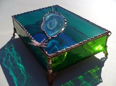 Lake Tahoe Inspired Stained Glass Jewelry Box with by KeiberGlass, $75.00