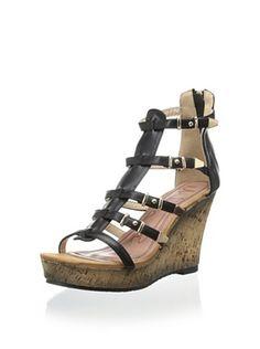 42% OFF Modern Rush Women's Maui Wedge Sandal (Black)