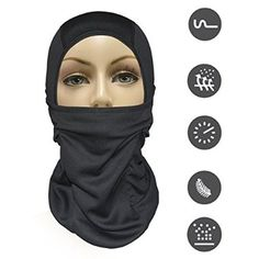 Order MJ Gear [9 in 1] Full Face Mask Motorcycle Balaclava, Running Mask for Cold or Hot Weather Life Time Warranty (Black) for Halloween Gifts Idea Shop Online for #Halloween Gifts Idea Stores