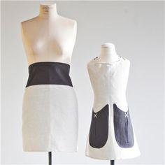 such a cute mother's day gift. Mother and daughter aprons from ice milk aprons company.