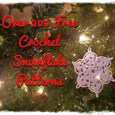 Over 200 Free Crochet Snowflake Patterns - Paperblog