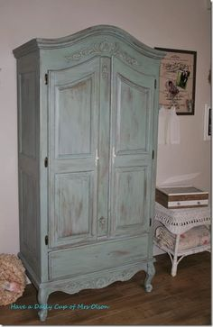 stunning french carved single antique armoire wardrobe | armoire