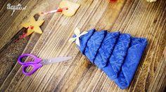 Ozdoby: Choinka z serwetki jako dekoracja stołu