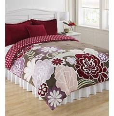 Asian Flower Mini Comforter Set 93