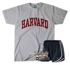 """""""Touring Harvard today! """" by your-daily-prep ❤ liked on Polyvore featuring NIKE and Vera Bradley"""