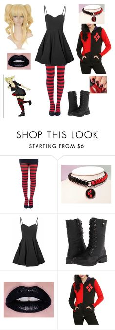 """Harley Quinn - Casual"" by shadow-cheshire ❤ liked on Polyvore featuring Glamorous and Wanted"