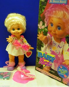 Rare 1990 Galoob Baby Face So Sweet Sandi in Original Box #1 In Series HTF NICE!