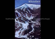 Vintage Poster, Whiteface Mountain, New York, Landscape Poster, Photography Poster, Skiing Poster, Color, Large, Adirondack Mt. Poster by MountainAireVintage on Etsy