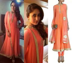 Kareena kapoor in neon anarkali by Ridhi Mehra