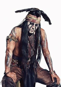 Johnny Depp The Lone Ranger Tonto Pose Poster