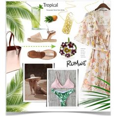 Designer Clothes, Shoes & Bags for Women Romwe, Your Style, Tropical, Mood, Polyvore, Outfits, Collection, Design, Summer