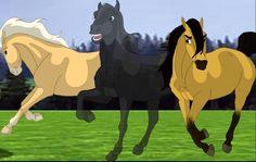Esperanza, Strider, & Spirit Spirit The Horse, Spirit And Rain, Spirit Animal, Pretty Horses, Beautiful Horses, Horse Animation, Animation Movies, Anime Puppy, Horse Movies