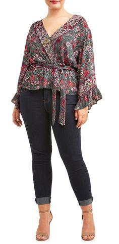 eb87f29787f32 Romantic Gypsy - Women s Plus Size Strap Dress With Tassel Tie Front  Closure - Walmart.com