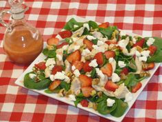 FAT BURNING, METABOLISM BOOSTING RECIPES like this Strawberry Spinach Salad. http://tonetiki.com/category/metabolism-boosting-meals/ #Metabolism Boosting #WeightLoss