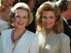 Candace Bergen (R) with mom Frances