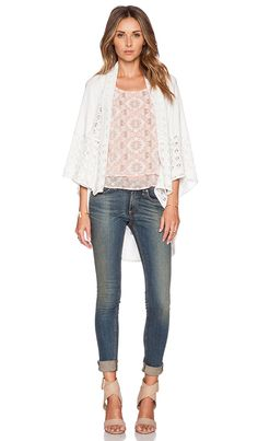 6315a37965e Shop for BCBGeneration Novelty Stitch Cardigan in Optic White at REVOLVE.  Free 2-3