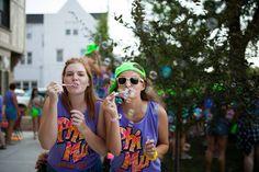 Phi Mu at University of Nebraska #PhiMu #BidDay #neon #snapback #sorority #Nebraska