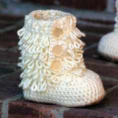 Baby Crochet Patterns ~ Furrylicious Boot from | http://shoesgallerryimages.blogspot.com