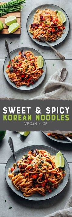 Sweet & Spicy Korean Noodles (Vegan)