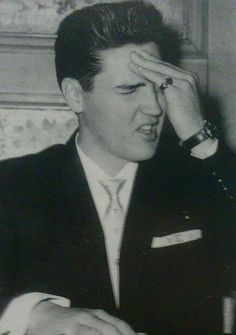 "Elvis February 24, 1961 Charity Luncheon / ""June 1959 Paris press conference."" sly mino' quote. Tks"