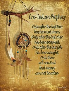 "Native American Indian ""Cree Prophecy"""